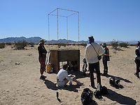 "High Desert Test Sites 2013, ""Secret Restaurant"" by Bob Dornberger and Jim Piatt. Wonder Valley, CA"