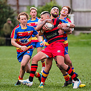 Action during the Jubilee Cup Premier rugby union game played between Tawa  v Poneke played at  Lyndhurst Park, Tawa , Wellington, New Zealand, on 29 June 2019.   Final score 48-24 to the Tawa.