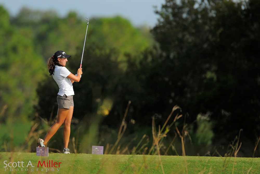 Jessica Wallace during the second round of the Symetra Tour Championship at LPGA International on Sept. 27, 2013 in Daytona Beach, Florida. <br /> <br /> <br /> &copy;2013 Scott A. Miller