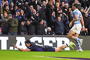 Sean Maitland scores winning try for Scotland during the Autumn Test match between Scotland and Argentina at Murrayfield, Edinburgh, Scotland on 24 November 2018.