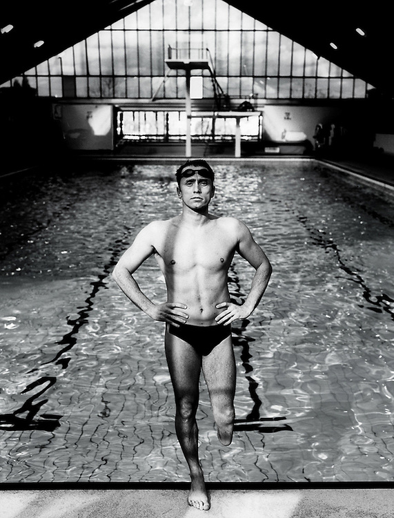 Portrait of a Disabled Swimmer<br />