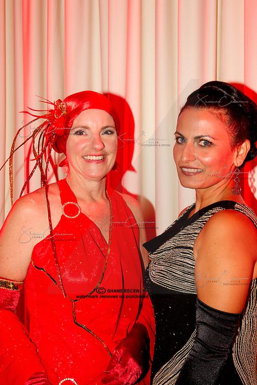 Deb Kobelt & Erica Sims. Cancer Council Ball 2011. Photo Shane Eecen