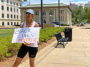 Today at the Mississippi State Capitol. Truth spoken to power by demonstrators in support of Black Lives Matter and against the brutal  murder of George Floyd and police brutality and systematic racism. In the past 6 days protests and riots have broken out across America in response to the brutal killing of an unarmed African American man by the knee and hands of Minnesota Police <br />