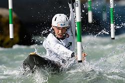 Jules BERNARDET of France during the Canoe Single (C1) Men SemiFinal race of 2019 ICF Canoe Slalom World Cup 4, on June 28, 2019 in Tacen, Ljubljana, Slovenia. Photo by Sasa Pahic Szabo / Sportida
