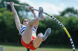 Kirsty Maguire of Edinburgh in the Pole Vault, UK Women's Athletics League - Premier Division Match 3, Norman Park Bromley, UK on 03 August 2013. Photo: Simon Parker