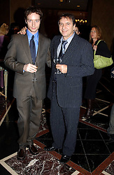 Left to right, SEBASTIAN BLANC and his father RAYMOND BLANC at the Tatler Restaurant Awards in association with Champagne Louis Roederer held at the Four Seasons Hotel, Hamilton Place, London W1 on 10th January 2005.<br />