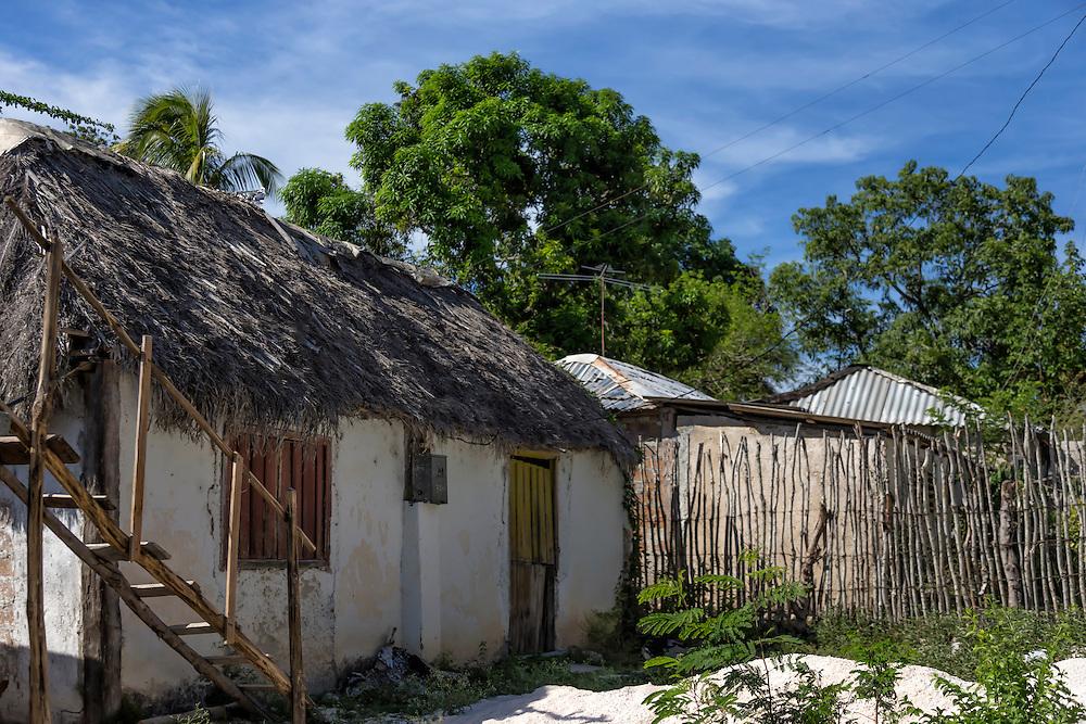 Houses in Charco Redondo, Granma, Cuba.