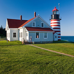 West Quoddy Head Light at Quoddy Head State Park in Lubec, Maine.  Easternmost point in the United States.