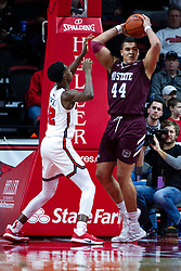 NORMAL, IL - January 07: Gaige Prim defended by Antonio Reeves during a college basketball game between the ISU Redbirds and the University of Missouri State Bears on January 07 2020 at Redbird Arena in Normal, IL. (Photo by Alan Look)