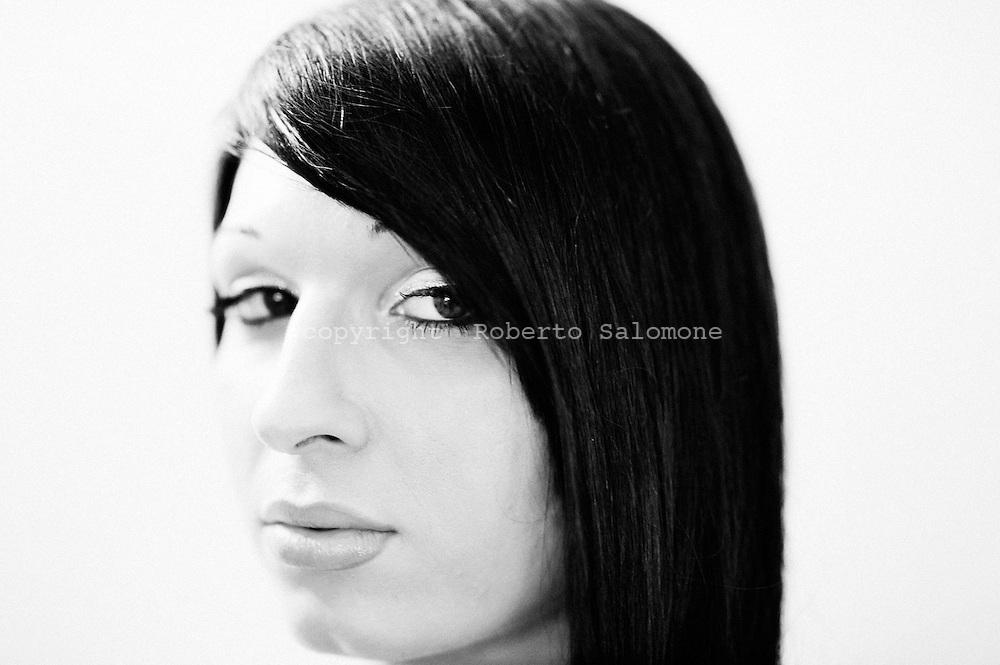 San Sebastiano al Vesuvio, 28 luglio 2011. Uno dei trans in concorso per il titolo di Miss Trans Campania 2011..Ph. Roberto Salomone Ag. Controluce.ITALY - One of the transgenders partecipating to Miss Trans Campania beauty contest in San Sebastiano al Vesuvio on July 28, 2011.