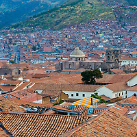 "View of the Peruvian city of Cusco the former capital of the Incan empire and ""unesco"" world heritage site"