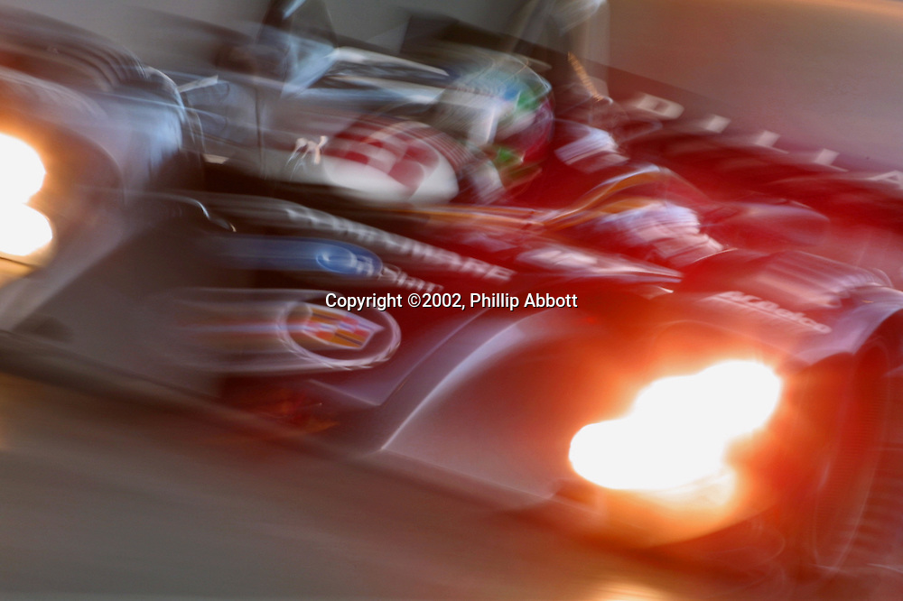 Max Angelelli drives the Cadillac Northstar LMP-02 at Miami in 2002<br />