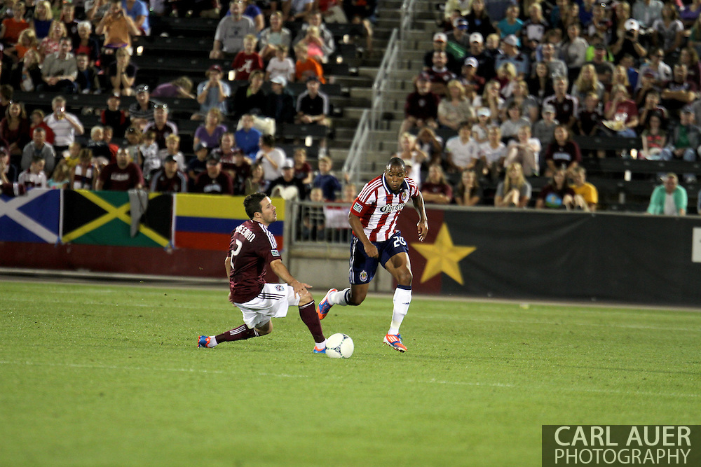 August 18th, 2012: Chivas USA forward Tristan Bowen (20) breaks past Colorado Rapids defender Hunter Freeman (2) in the second half at Dick's Sporting Goods Park