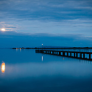 Moonrise over Swan Bay, Victoria, Australia