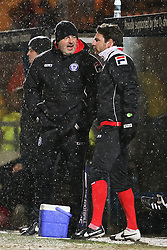 Rochdale Manager, Keith Hill & Assistant Manager, Chris Beech - Photo mandatory by-line: Matt McNulty/JMP - Mobile: 07966 386802 - 03/03/2015 - SPORT - football - Rochdale - Spotland Stadium - Rochdale v Crewe Alexandra - Sky Bet League One