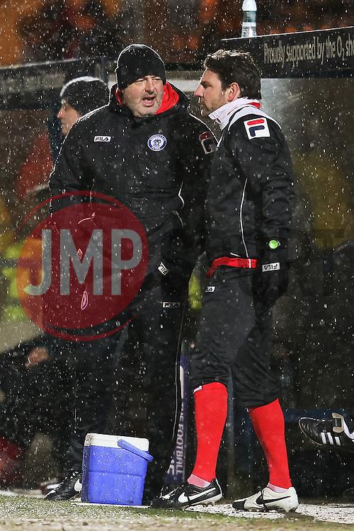 Rochdale Manager, Keith Hill & Assistant Manager, Chris Beech - Photo mandatory by-line: Matt McNulty/JMP - Mobile: 07966 386802 - 03/03/2015 - SPORT - football - Rochdale - Spotland Stadium - Rochdale v Crewe Alexandra - Sky Bet League One