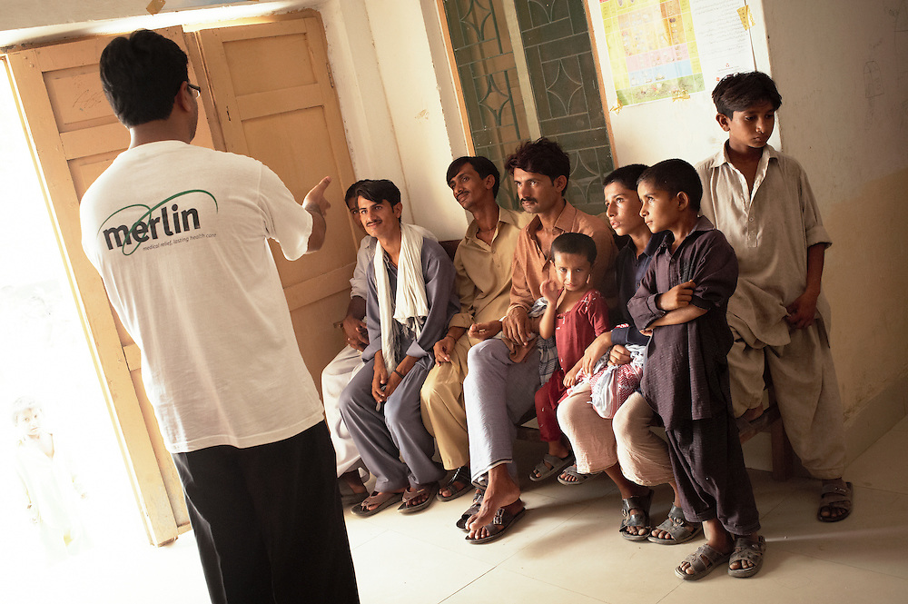 A health promotion class at the Bhu Khero government health clinic, Dadu, Sindh, Pakistan on July 5, 2011.