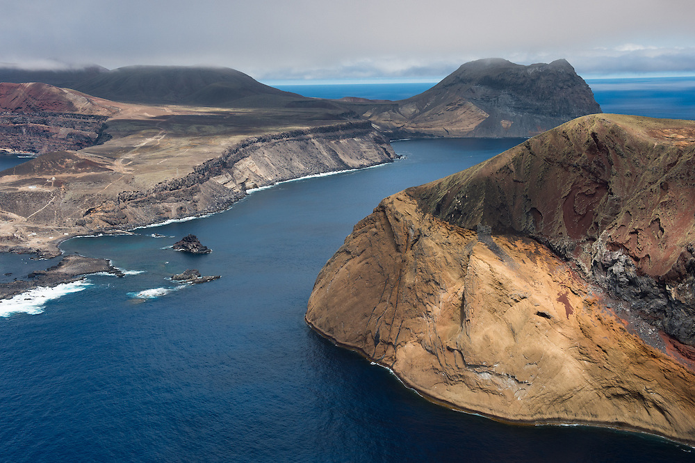 Aerial view of Guadalupe Island