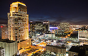 Downtown New Orleans while the Super Bowl is being played inside the Mercedes Benz Superdome
