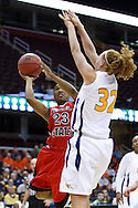 13 March 2010:   Ball State's Patrice King (23) and Toledo's Melissa Goodall (32) during the MAC Tournament game basketball game between Ball State and Toledo and  at Quicken Loans Arena in Cleveland, Ohio.