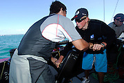 Peter Burling, National Starling champ goes sailing with Emirates Team New Zealand on NZL84. 21/1/2006