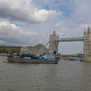 Tower bridge on 18 July 2019, City of London, UK.