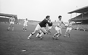 All Ireland Senior Football Final Galway v. Dublin, Croke Park..Dublin forward M. Whelan about to kick towards Galway Goal .22.09.1963
