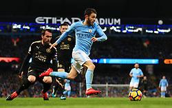 Bernardo Silva of Manchester City attacks - Mandatory by-line: Matt McNulty/JMP - 10/02/2018 - FOOTBALL - Etihad Stadium - Manchester, England - Manchester City v Leicester City - Premier League