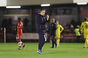 Michael Duff  during the EFL Sky Bet League 2 match between Crawley Town and Cheltenham Town at the Broadfield Stadium, Crawley, England on 5 January 2019.