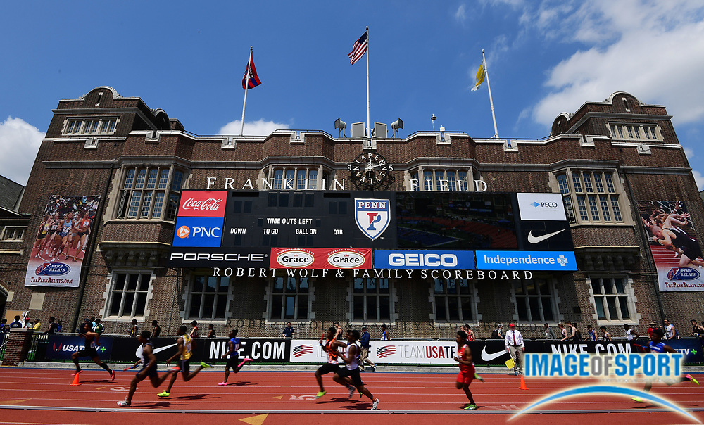 Apr 28, 2018; Philadelphia, PA, USA; General overall view of the 124th Penn Relays at Franklin Field.