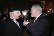 Stephen Jones and Colin McDowell, Kylie The Exhibition, private view: Victoria & Albert Museum, London, 6 February 2007.  -DO NOT ARCHIVE-© Copyright Photograph by Dafydd Jones. 248 Clapham Rd. London SW9 0PZ. Tel 0207 820 0771. www.dafjones.com.