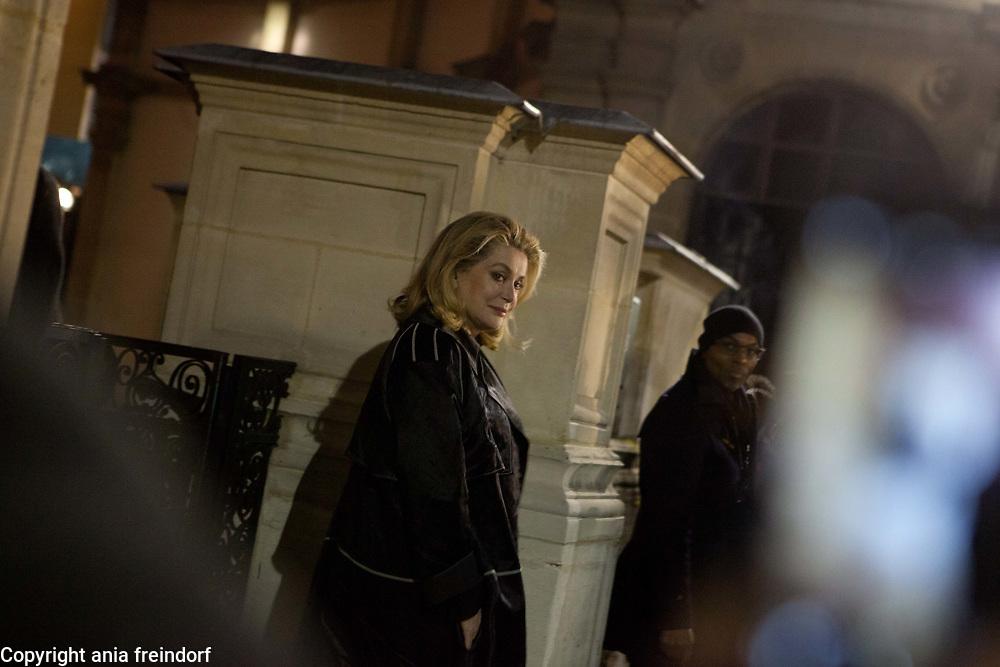 Paris Fashion Week, Lanvin, Catherine Deneuve French actress