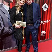 NLD/Amsterdam/20150208 - Herpremiere Sonneveld, Brigitte Nijman en partner Robert Veuger