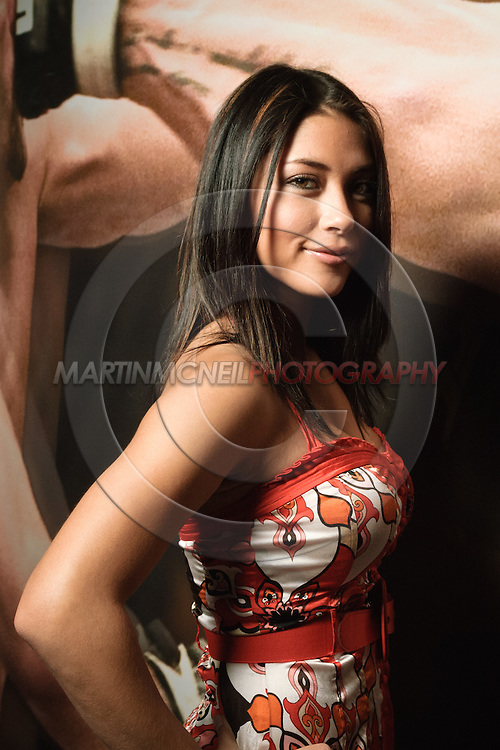 A portrait of mixed martial arts ring girl and Playboy centerfold model Arianny Celeste