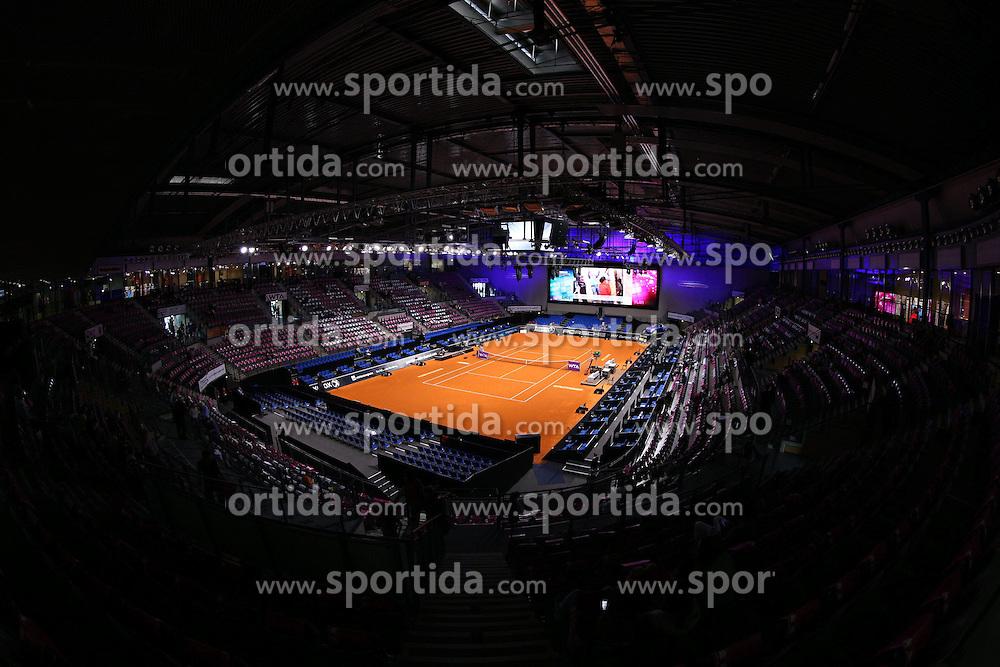 22.04.2014, Porsche Arena, Stuttgart, GER, WTA Tour, Stuttgart Porsche Grand Prix, im Bild Porsche Arena Innenansicht // during the Stuttgart Porsche Grand Prix WTA Tour at the Porsche Arena in Stuttgart, Germany on 2014/04/22. EXPA Pictures &copy; 2014, PhotoCredit: EXPA/ Eibner-Pressefoto/ Neis<br /> <br /> *****ATTENTION - OUT of GER*****