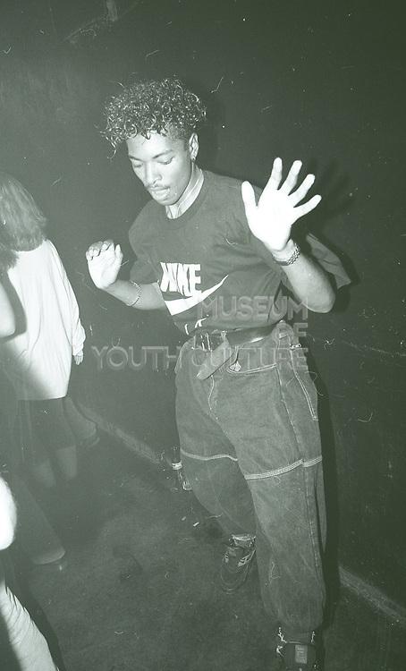 Raver Skanking, The Boardwalk, Manchester, 1989.