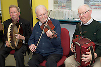 James Casey, Tom Quinn and Tom Madden Ballinasloe Comortas   at NUIG for the launch of the Galway Age Friendly Strategy, which sets out a plan to make Galway City and County a great place in which to grow up and grow old. The Strategy was developed following extensive consultation with older people across the city and county and aims to ensure that older people continue to be supported to play an active role in their communities. The launch of the strategy is an important milestone as it sets out a blueprint for how we will plan and develop communities in the coming years to ensure that Galway is a truly great place in which to grow up and grow old. Photo:Andrew Downes