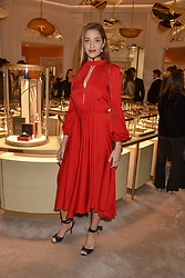 Ana Beatriz Barros at the reopening of the Cartier Boutique, New Bond Street, London, England. 31 January 2019. <br /> <br /> ***For fees please contact us prior to publication***