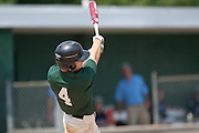West Deptford's Keith Wallace hits a lead off single in the 2nd inning during a elimination bracket game of the Eastern Regional Senior League tournament held in West Deptford on Monday, August 8.