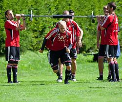 31.07.2010, Stadion, Kaprun, AUT, 1. FC Nürnberg Training, im Bild Andreas Wolf (1. FC Nürnberg, # 05), EXPA Pictures © 2010, PhotoCredit: EXPA/ J. Feichter / SPORTIDA PHOTO AGENCY