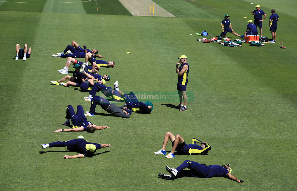 South Africa's players during the nets session at the Ageas Bowl, Southampton.