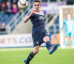 Falkirk's Luke Leahy.<br /> Falkirk 1 v 1 Livingston, Scottish Championship game today at The Falkirk Stadium.<br /> &copy; Michael Schofield.