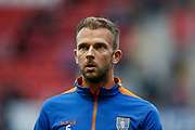 Jordan Rhodes of Sheffield Wednesday before the EFL Cup match between Rotherham United and Sheffield Wednesday at the AESSEAL New York Stadium, Rotherham, England on 28 August 2019.