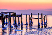 Icey Currituck Sound sunset.