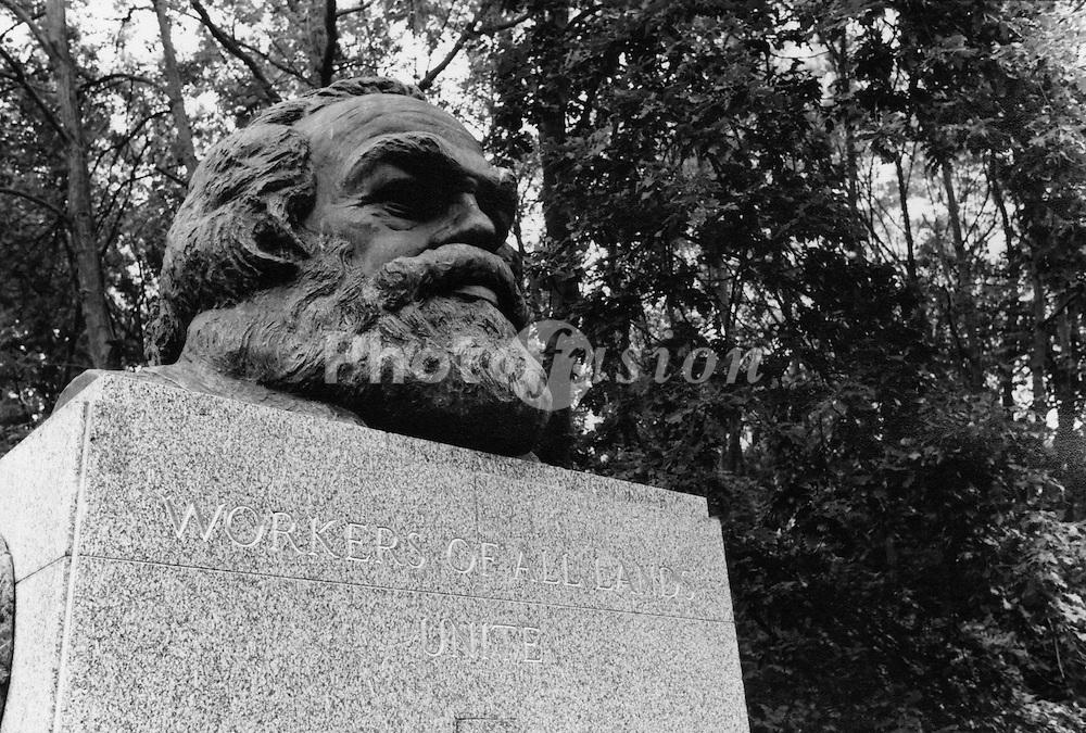 Karl Marx's grave; Highgate Cemetery; London UK