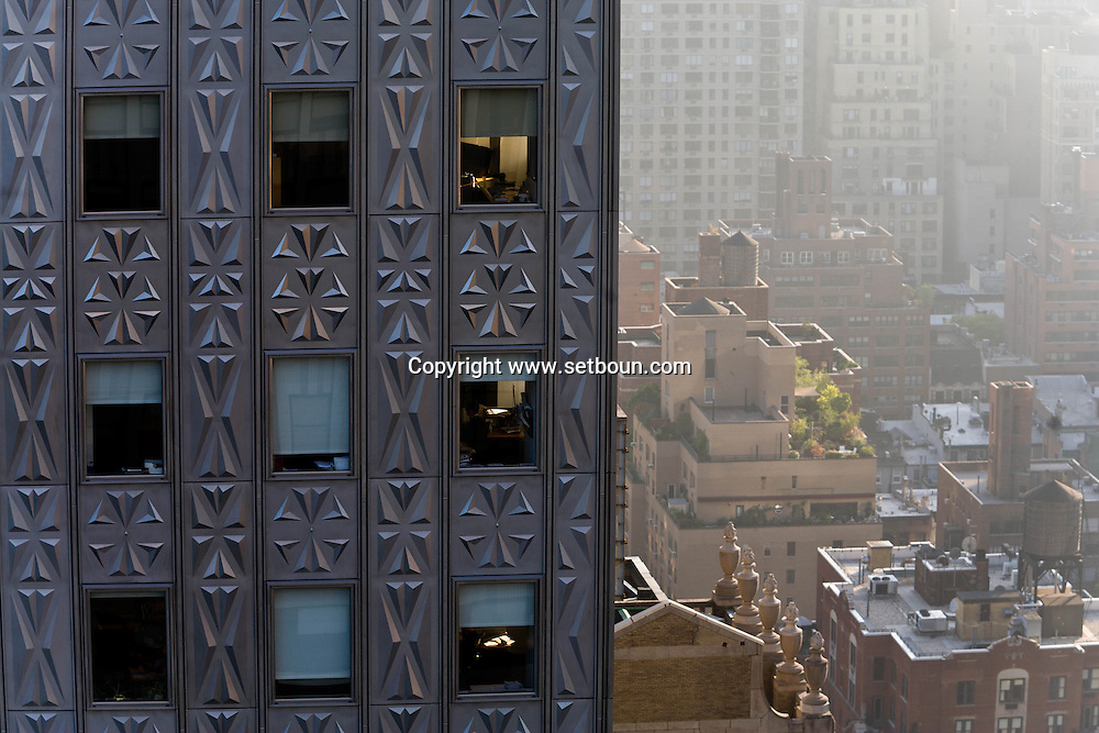 New York , the Mobil building and midtown skyline  view from the chrysler building   Manhattan - United states /  le Mobil building et midtown vue depuis le Chryslerbuilding Manhattan, New York - Etats-unis