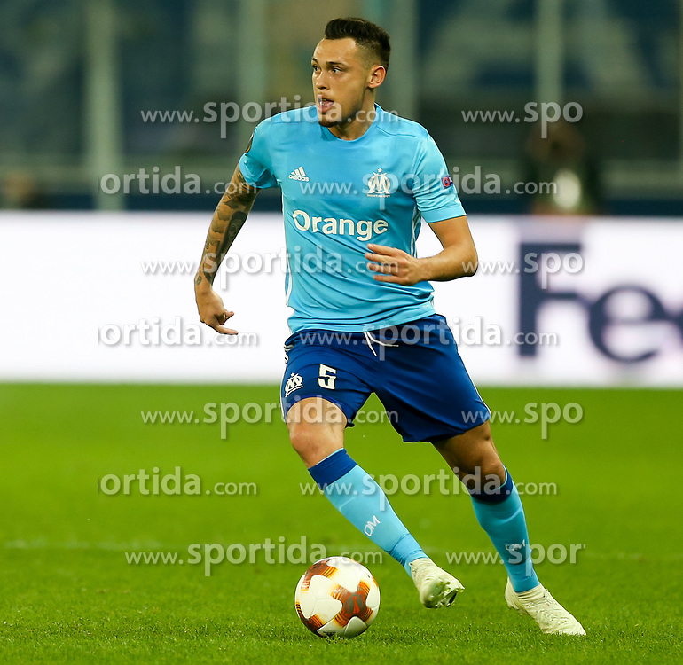 03.05.2018, Red Bull Arena, Salzburg, AUT, UEFA EL, FC Salzburg vs Olympique Marseille, Halbfinale, Rueckspiel, im Bild Lucas Ocampos (Olympique Marseille) // during the UEFA Europa League Semifinal, 2nd Leg Match between FC Salzburg and Olympique Marseille at the Red Bull Arena in Salzburg, Austria on 2018/05/03. EXPA Pictures © 2018, PhotoCredit: EXPA/ Roland Hackl