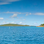 Waterlemon Cay at St. John, US Virgin Islands. This marine national park is a popular snorkeling location.