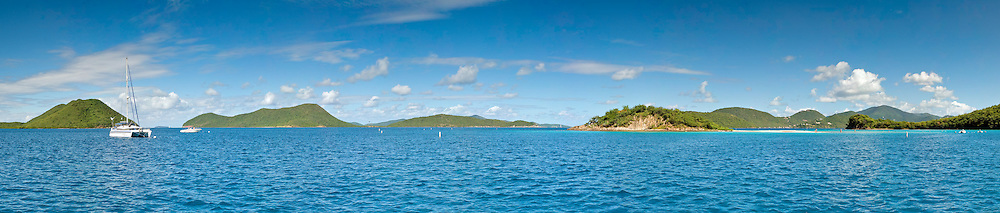 Waterlemon Cay at St. John, US Virgin Islands. This marine national park is a popular snorkeling location.