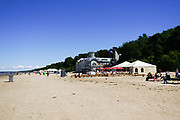 beach at Jurmala beach resort on the Baltic coast, Latvia